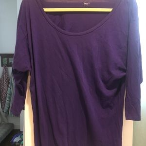 Purple 3/4 sleeve shirt